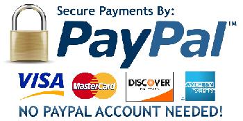Wir akzeptieren Vorauskassa,Überweisung,PayPal, Mastercard, Visa, Sofort Überweisung